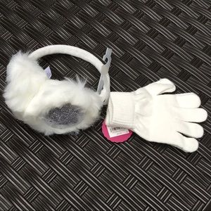 🎈🎈 Girls SO sequin earmuffs and gloves set